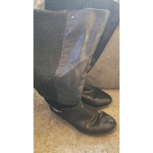 Black knee high sweater boots from torrid sz 12.5